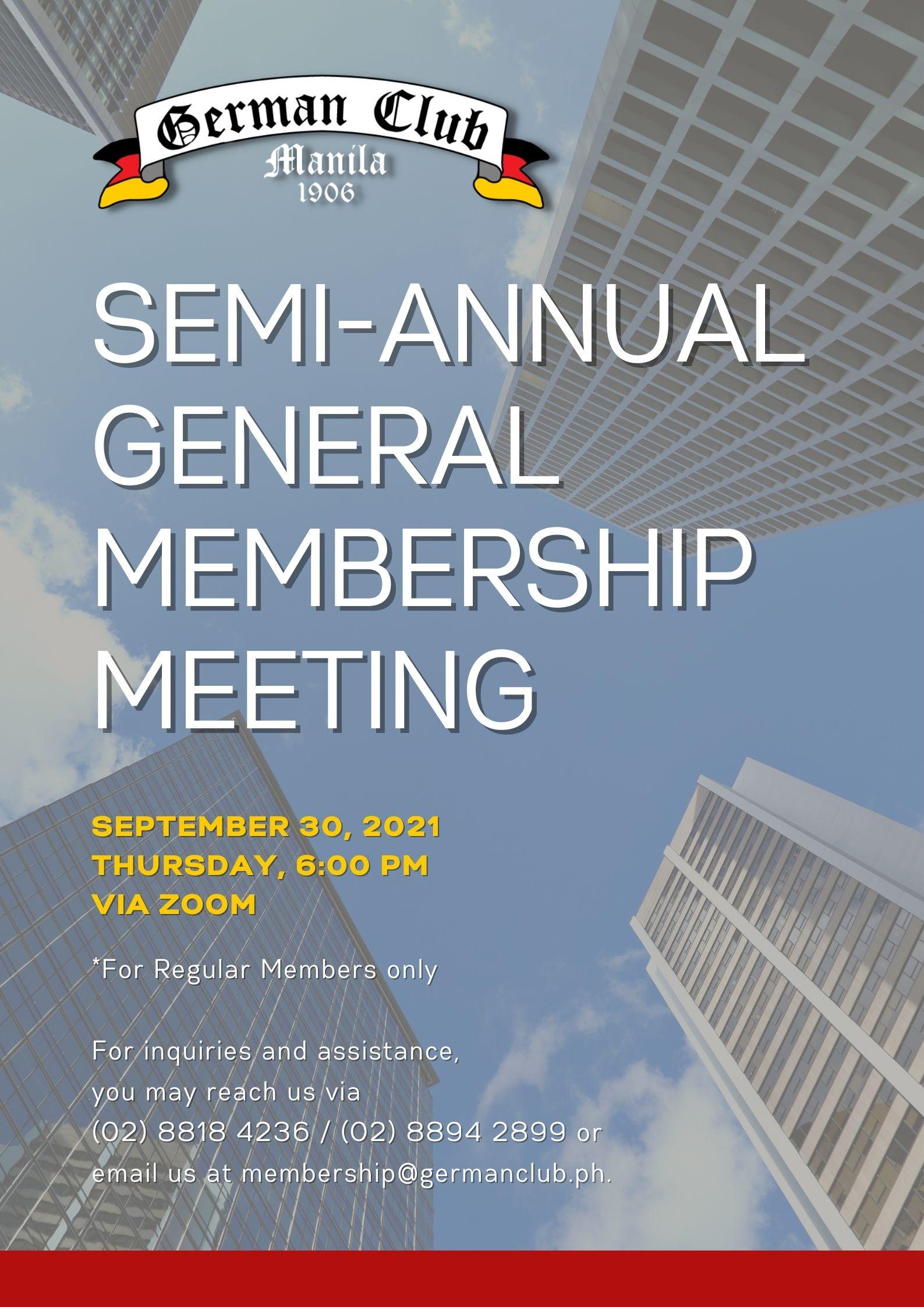 Semi-Annual General Membership Meeting (SAGM)